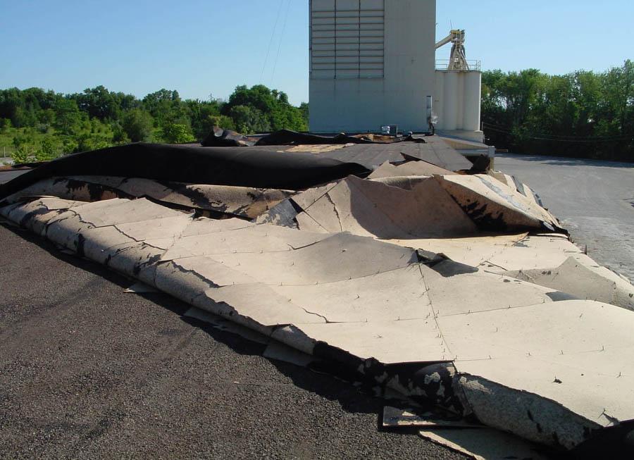 Blown Off Rooftop - Commercial Roofing Contractors