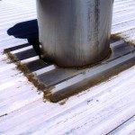 Metal Roof Large Stack Leak Before Sentry Roofing