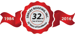 Sentry Roofing - 32 Years of Excellence Badge - Commercial Roofing Contractor