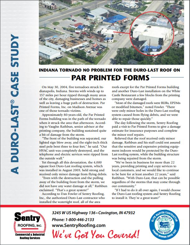 Duro-Last Roof Tornado Case Study