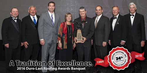 Sentry Roofing Duro-Last Awards