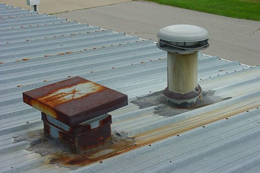 Metal Roof Curb Stack Leaking