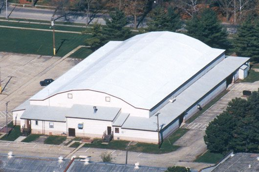 Duro-Last barrel roof installation in Rantoul, IL at Lincoln's Challenge Fitness Center