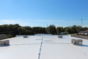Duro-Last Metal retrofit roof overview in Danville IL at Crossroads Christian Church