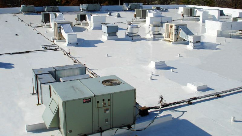Flat Roof With Hvac Systems