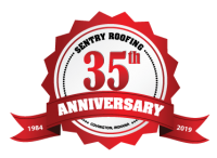 Sentry Roofing 35th Anniversary Seal