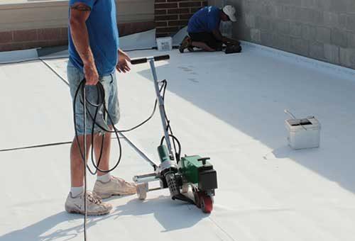 TPO Membrane Roofing Hot Air Seam Welding