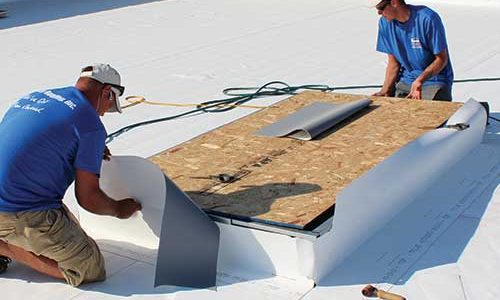 TPO Membrane Roofing System Installation